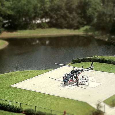 Helicopter Photograph - Helipad by James Davidson