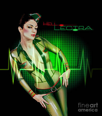 Drawing - Hell Lectra Heart Beat by Brian Gibbs