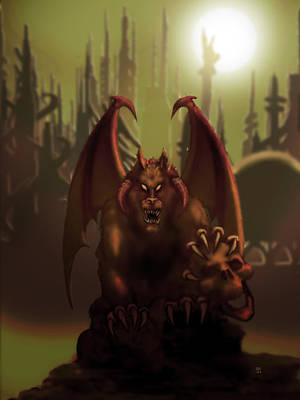 Digital Art - Hell Wolf by William McDonald