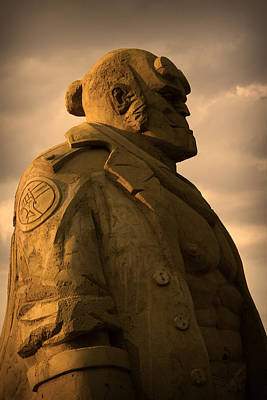 Photograph - Hellboy Sand Figure by Radoslav Nedelchev