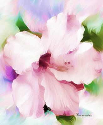 Giclee Mixed Media - Hello Hibiscus by Georgiana Romanovna