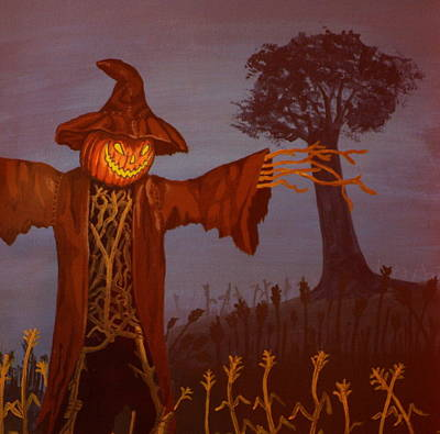 Horror Painting - Helloween by Shawn OLeary