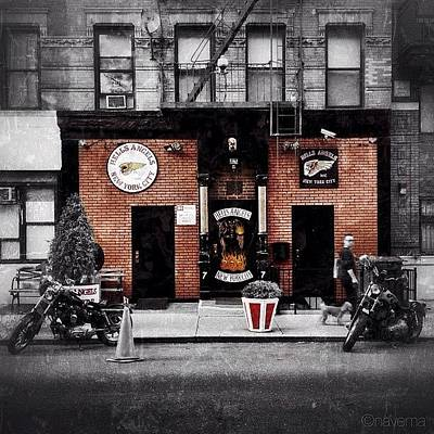 Cycling Wall Art - Photograph - Hells Angels Nyc by Natasha Marco
