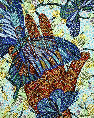 Tree Painting - Helping Hand 2 by Erika Pochybova