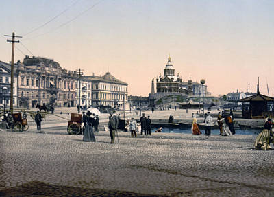 Helsinki Finland - Senate Square Print by Bode Stevenson