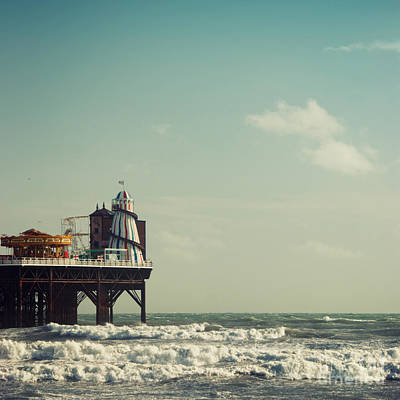 Helter-skelter On Brighton Pier  Art Print by Paul Grand