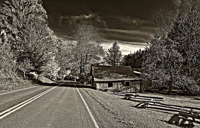 Helvetia Wv Monochrome Print by Steve Harrington