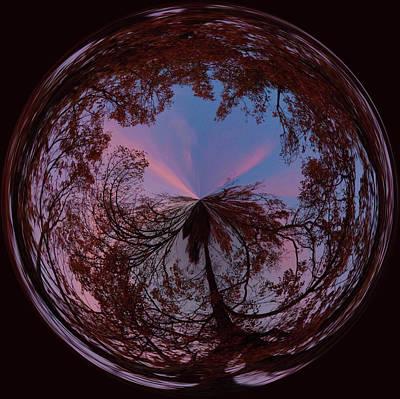 Hendersonville Sunset Orb Art Print by Sandi Blood