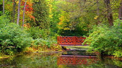 Henes Park Pond Bridge Art Print