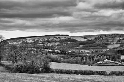 Black And White Photograph - Hengoed Viaduct Mono by Steve Purnell