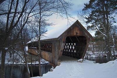 Photograph - Henniker Covered Bridge by Peggie Strachan