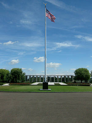 Photograph - Henri Chapelle American Cemetery And Memorial by Nop Briex