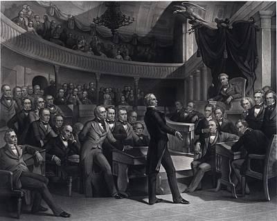 Henry Clay 1777-1852 Addressing Art Print by Everett