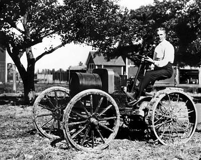 1900s Portraits Photograph - Henry Ford At The Controls Of One by Everett