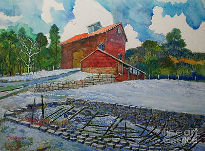Henry Fowler Farm Art Print by Donald McGibbon