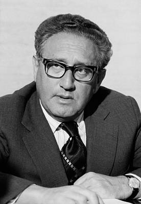 Henry Kissinger As Secretary Of State Art Print by Everett