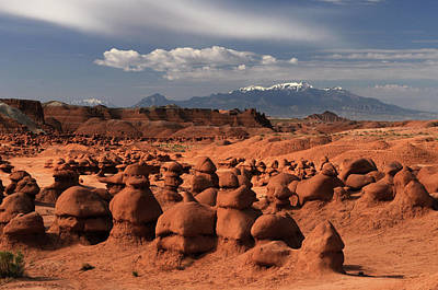 Goblin Valley State Park Photograph - Henry Mountains by David Hogan
