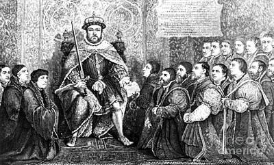 Henry Viii Presenting Charter To Barber Art Print