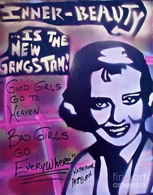 Katherine Hepburn Painting - Hepburn Gangstah by Tony B Conscious