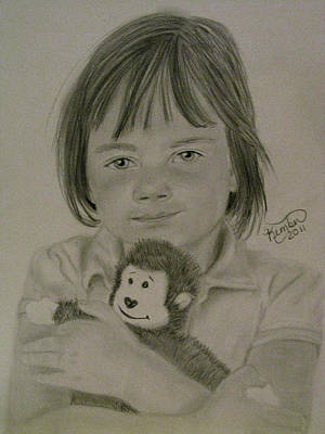 Drawing - Her Best Friend  by Kimber  Butler