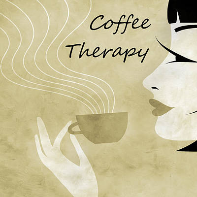 Her Coffee Therapy 1 Art Print