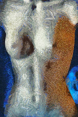 Female Mixed Media - Her Figure 3 by Angelina Vick
