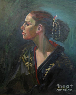 Painting - Her Kimono by Lilibeth Andre