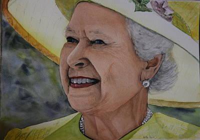 Queen Elizabeth Ii Painting - Her Majesty by Betty-Anne McDonald