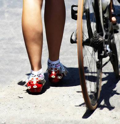 Bike Race Digital Art - Her Power Of Red by Steven Digman