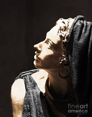 Her Profile Art Print by Danuta Bennett