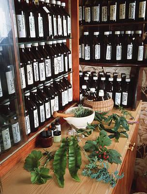 Herbal Pharmacy Art Print by Tek Image