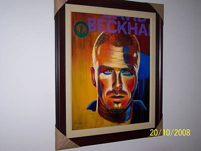 David Beckham Wall Art - Mixed Media - Herbalife David Beckham by Michael Joseph
