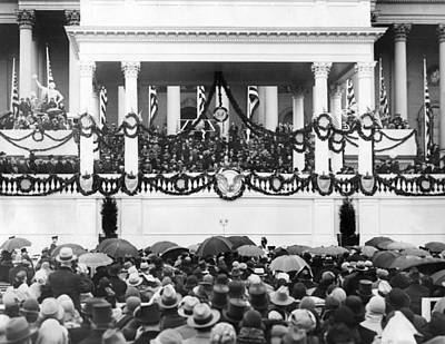 Swearing In Photograph - Herbert Hoover Takes Oath Of Office by Everett