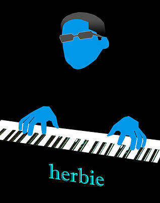 Jazz Fusion Digital Art - Herbie Blue by Victor Bailey