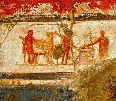 Photograph - Herculaneum Wall Painting by Eric Tressler