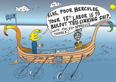 Financial Mixed Media - Hercules' 13th Labor by OptionsClick BlogArt