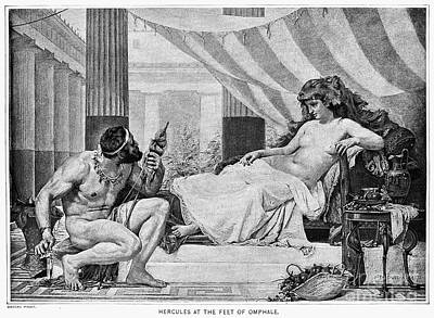 Ancient Thread Photograph - Hercules And Omphale by Granger