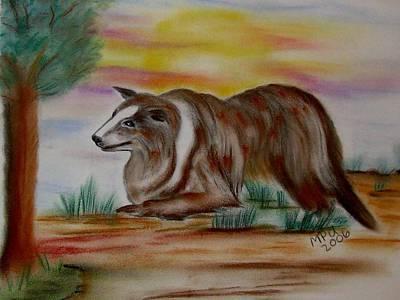 Herding Collie Art Print by Maria Urso