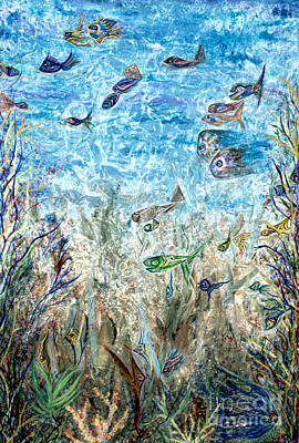 Painting - Here Fishy Fishy by Pm Ernst