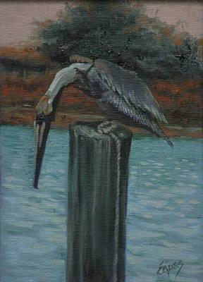 Pylon Painting - Here Fishy by Linda Eades Blackburn