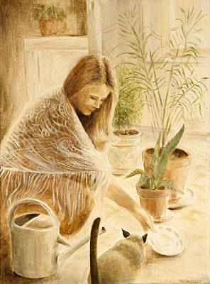 Painting - Here Kitty by Rita Bentley