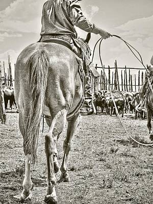 Cowboy Photograph - Here We Go Again by Megan Chambers