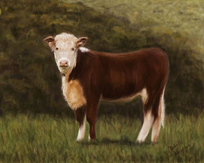 Painting - Hereford Heifer by Michelle Wrighton