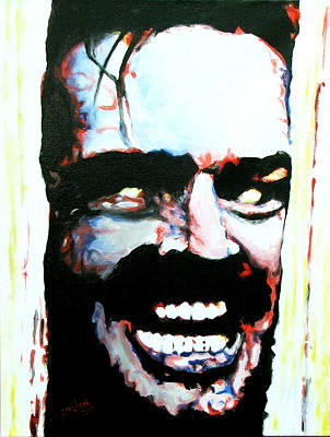 Brian Carlton Art Painting - Here's Johnny by Brian Carlton
