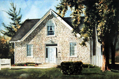Of Our House Painting - Heritage Home Portrait by Hanne Lore Koehler