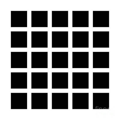 Illusory Photograph - Hermann Grid by SPL and Photo Researchers