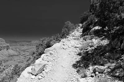 Photograph - Hermit's Rest Trail Bw I by Julie Niemela