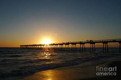 Hermosa Beach Sunset Art Print by Nina Prommer