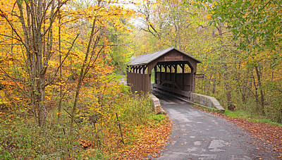 Photograph - Herns Mill Covered Bridge by Harold Rau