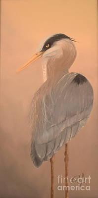 Herron Painting - Herron by Gila Churba